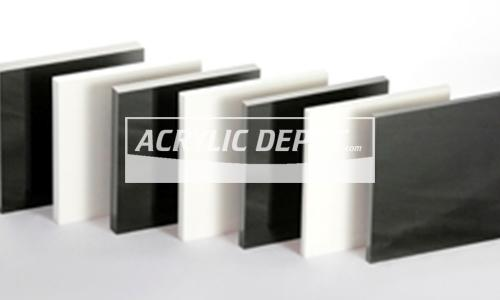 Black White Cast Acrylic Sheet Acrylic Depot